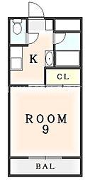 ビクトリーハイツ新港[206号室]の間取り