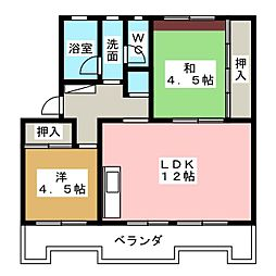 桜ヶ丘ハイツA棟[2階]の間取り