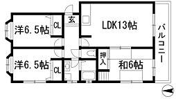 マンション荘園[2階]の間取り