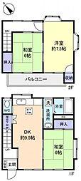 [テラスハウス] 千葉県八千代市高津 の賃貸【/】の間取り