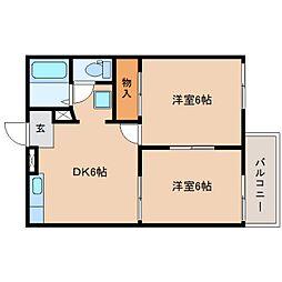 静岡県静岡市清水区下野緑町の賃貸アパートの間取り