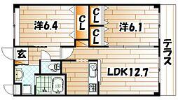 若松区今光新築アパート[2階]の間取り