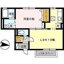 ファインシーク B棟[1階]の間取り