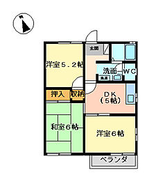 グランフォーレ[2階]の間取り