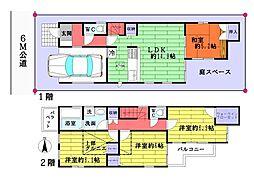 [一戸建] 東京都足立区花畑6丁目 の賃貸【/】の間取り