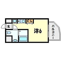 インターフェルティR2甲子園[8階]の間取り
