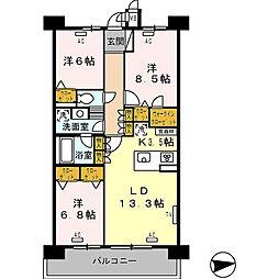 ロイヤルパークス西新井[337号室]の間取り