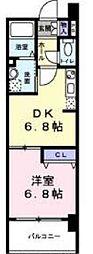 ティラヴェント中津[9階]の間取り