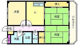 メゾン松茂[3階]の間取り