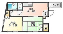 日永田ビル[4階]の間取り