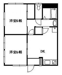 ハイツ・ナガオカ[1階]の間取り