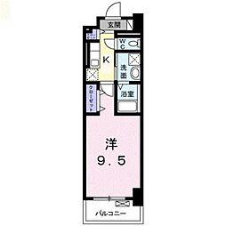 JR横浜線 新横浜駅 徒歩13分の賃貸マンション 5階1Kの間取り
