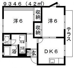 シャルマン島泉[B201号室号室]の間取り