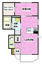 エーデルハイム弐番館[2階]の間取り
