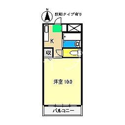 サンシティ2[4階]の間取り