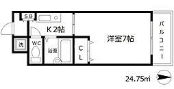 カランドリエ[4階]の間取り