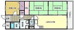 サニープレイス青山[1階]の間取り