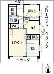 NOBLE[4階]の間取り