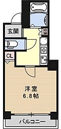 プレサンス京都二条城前[304号室号室]の間取り