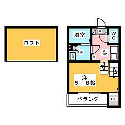 愛知県名古屋市中川区十番町5丁目の賃貸アパートの間取り