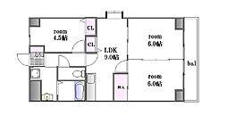 三篠北パークマンション[3階]の間取り