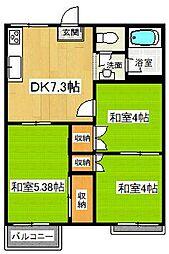 緑ハイツ[2階]の間取り