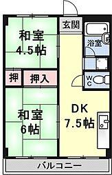 瀬田サンプラザマンション[405号室号室]の間取り