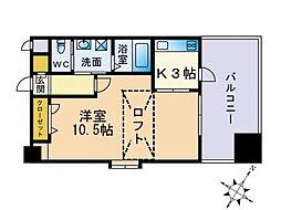セレーノ高宮[902号室]の間取り