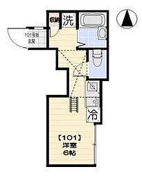 プラティーク南蒲田 bt[101kk号室]の間取り