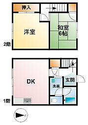 [テラスハウス] 千葉県大網白里市大網 の賃貸【/】の間取り
