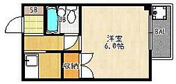 ロード[201号室]の間取り