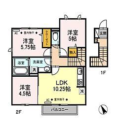 リンデンハイム[2階]の間取り