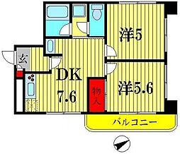 グレイス平成[3階]の間取り
