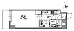 つくばエクスプレス 浅草駅 徒歩16分の賃貸マンション 3階1Kの間取り