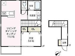 エルメゾン横濱[201号室号室]の間取り