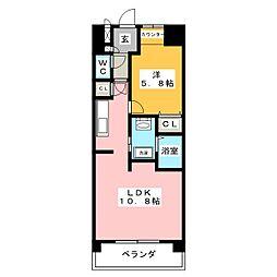 SINCEREMEIJI[4階]の間取り