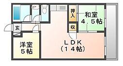 ハイツユソ−キ[5階]の間取り