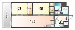 ヨーロピアンタワー[11階]の間取り