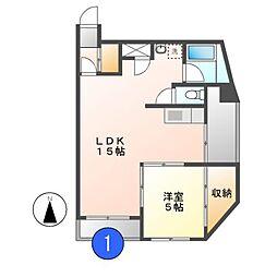 主税ビル[9階]の間取り