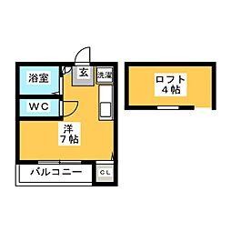 エスポワール箱崎[2階]の間取り