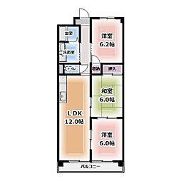 アパートメント朴の樹[405号室]の間取り