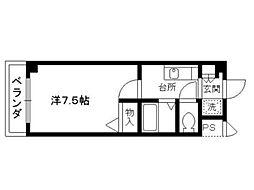 ラフィネ松ヶ崎[2階]の間取り