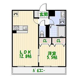 東京都葛飾区白鳥4丁目の賃貸アパートの間取り