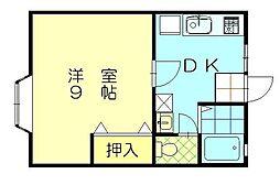リバーサイド桜[201号室]の間取り