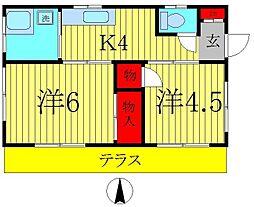 [一戸建] 千葉県松戸市三ヶ月 の賃貸【/】の間取り