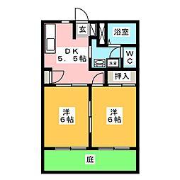 静岡県沼津市原の賃貸アパートの間取り