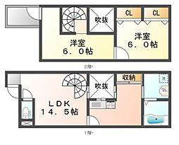 [タウンハウス] 岡山県岡山市北区今7丁目 の賃貸【/】の間取り