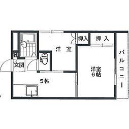 岩田ビル[2階]の間取り