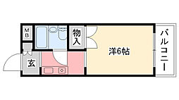パティオ甲子園口[2階]の間取り