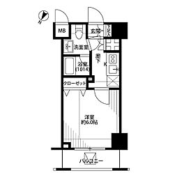 東京都北区中十条3丁目の賃貸マンションの間取り
